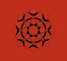 Mandala #215  ||  Red by RedBookJournals