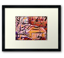 rural sounds......a kind of natural language Framed Print