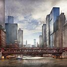 City - Chicago, IL - Looking toward the future  by Mike  Savad