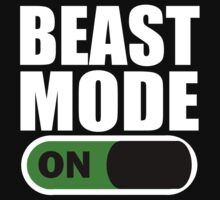 Beast Mode ON White by ZyzzShirts