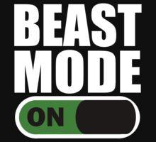 Beast Mode ON White by ZyzzShirts
