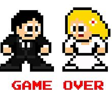 8-bit Bride and Groom-Gave Over by groundhog7s