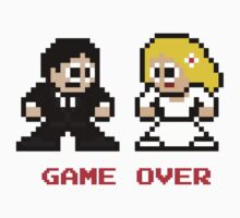 8-bit Bride and Groom-Gave Over Kids Clothes