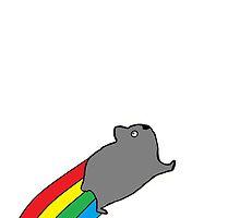 Rainbow Hamster  by jamman6000