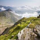 Wales - View from Snowdon by Angie Latham