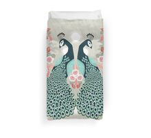 Peacocks by Andrea Lauren  Duvet Cover
