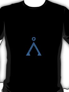 Earth symbol on black background T-Shirt