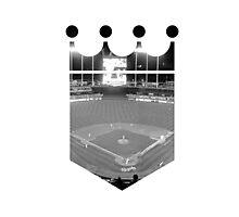 Kansas City Royals Stadium Black and White Photographic Print