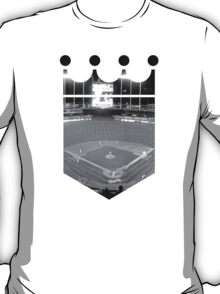 Kansas City Royals Stadium Black and White T-Shirt