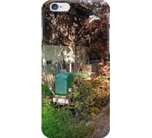 Abandoned agricultural vehicle | conceptual photography iPhone Case/Skin