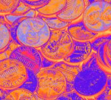American Pennies Pop Art Sticker
