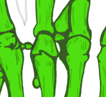Skeleton hand | Green Sticker