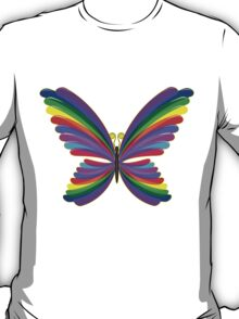 Butterfly Psychedelic Rainbow T-Shirt