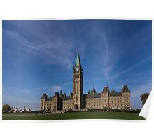 Center Block of the Canadian government - Ottawa, Ontario Poster