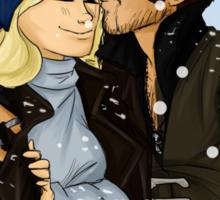 Kiss under the snow Sticker