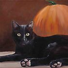 Sneak Peek Black Cat & Pumpkin by Charlotte Yealey