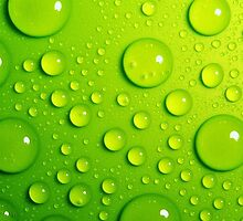 Green Rain Drops; Vector Art by Mynameisparrish