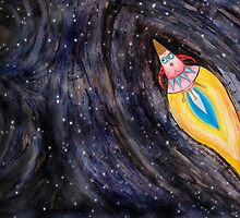 Princess Rocketship Flying by visualsteno