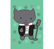Lounge Singer Cat Photographic Print