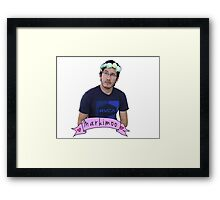 Markiplier (Level: Flower crown) Framed Print