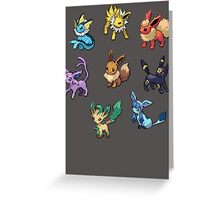 Pixel Eeveelutions V.2 Greeting Card