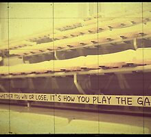 Athlete Inspiration Its How You Play the Game 2 by Beverly Claire Kaiya