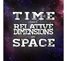 TIME AND RELATIVE DIMENSIONS IN SPACE by Melissa Gray