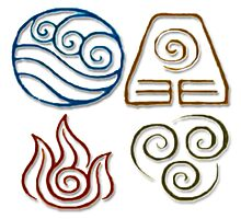 Avatar Bending Symbols Photographic Print
