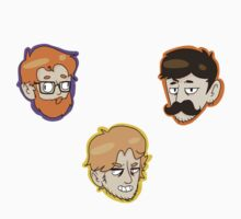 Team Gents Stickers by intr0spection