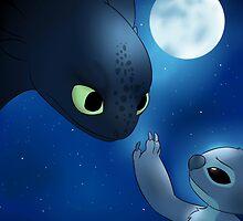 How to Train Stitch's Dragon by PonderingChibi