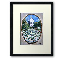 Apparition Over The Convent Framed Print