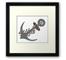 """""""Be Your Own Anchor"""" Teen Wolf Framed Print"""
