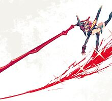 Kill la Kill ryuko blood splatter by eaglegrip