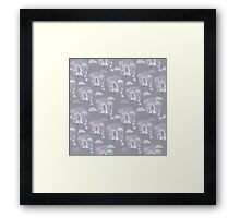 Cute pattern of christmas tree Framed Print
