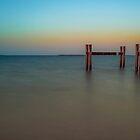 Parallel Poles - Wynnum Qld Australia by Beth  Wode