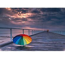 Rainy Jetty Photographic Print