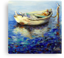 The lonely boat Canvas Print