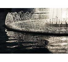 Dancing Silver Fountains Photographic Print