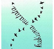 Bird Sky Infinity White Mint Hakuna Matata by SaydieART