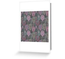 Decoration with abstract flower Greeting Card
