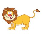 Cute funny cartoon lion by berlinrob