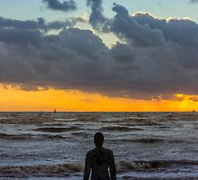 Solitary Iron Man at Crosby Beach by Paul Madden