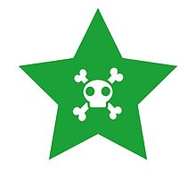 Skull and bones in a star by berlinrob