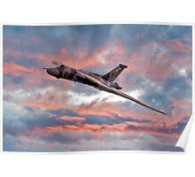 Avro Vulcan at Dawn Poster