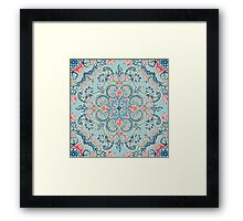 Gypsy Floral in Red & Blue Framed Print