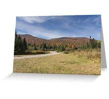 Fall colours with lake in Canada Greeting Card