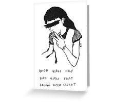 5 Seconds Of Summer Good Girls lyrics Greeting Card