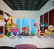 Mario the Last Supper by JacobCarder