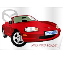 Mazda MX-5 Miata NB red Poster
