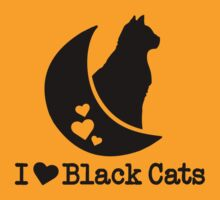 Limited Edition 'I Love Black Cats' Heart T-Shirt by Albany Retro